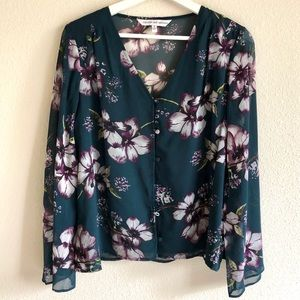 Cupcakes and Cashmere Floral Print Blouse